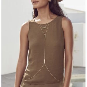 Kendra Scott James Gold Body Chain NEW